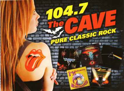 Classic Rock 104.7 The Cave ad