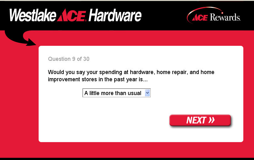 Ace is the place with the problem survey, man.