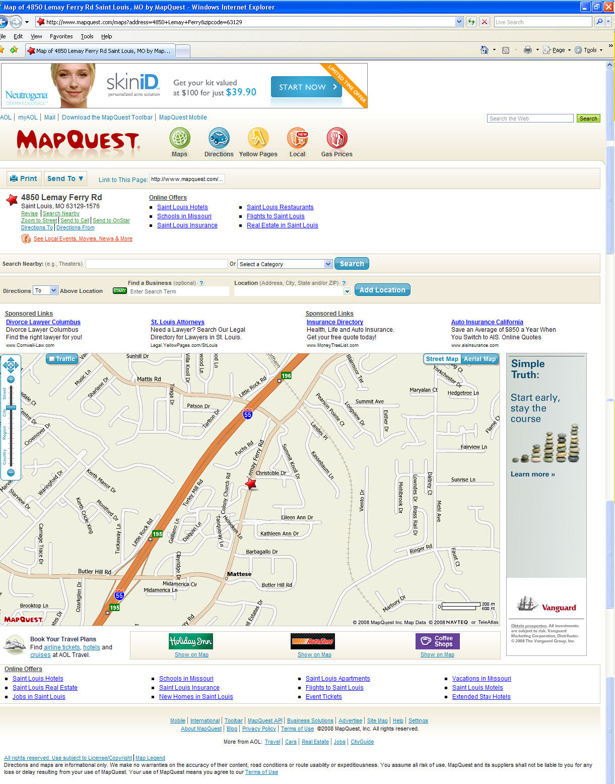 The MapQuest page that doesn't tell you not to use it wrong
