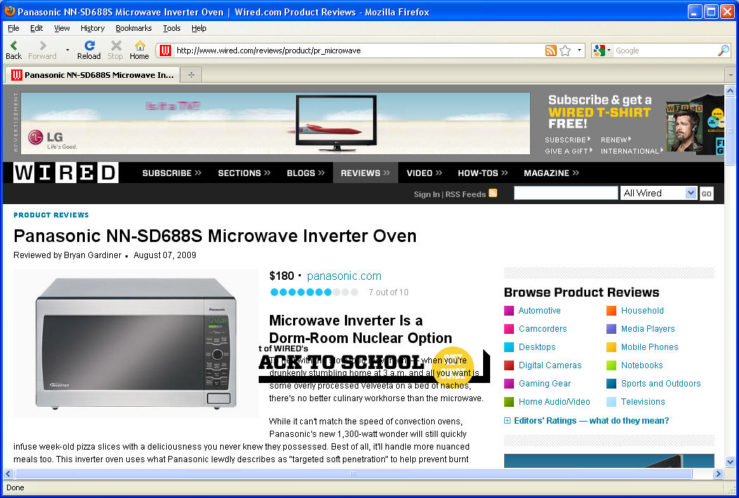 The microwave in Firefox.